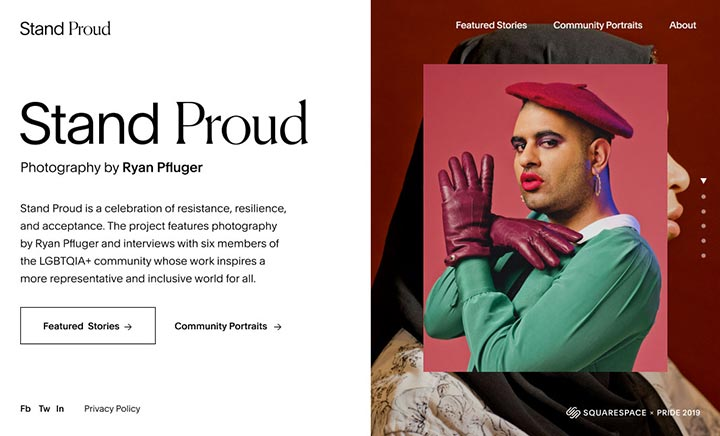Squarespace: Stand Proud  website