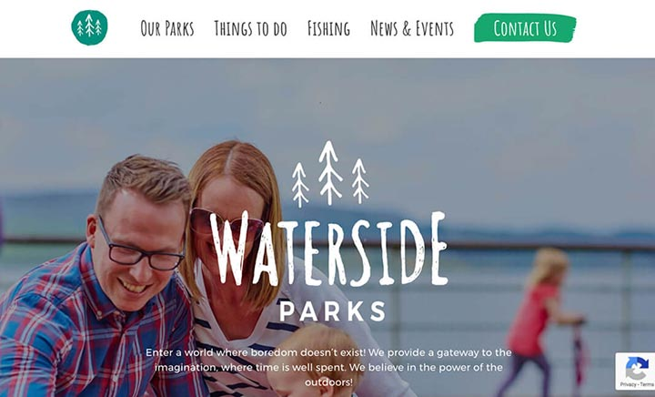 Waterside Parks website