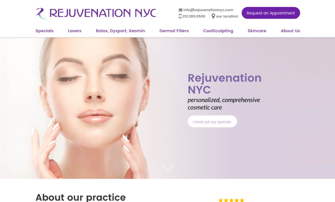 Rejuvenation nyc website