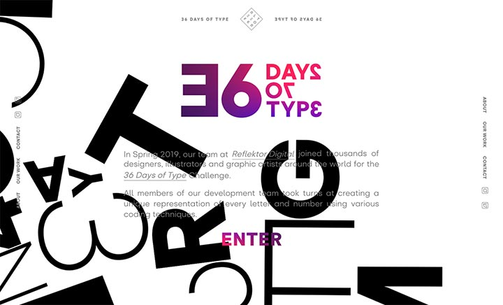 36 Days of Type website