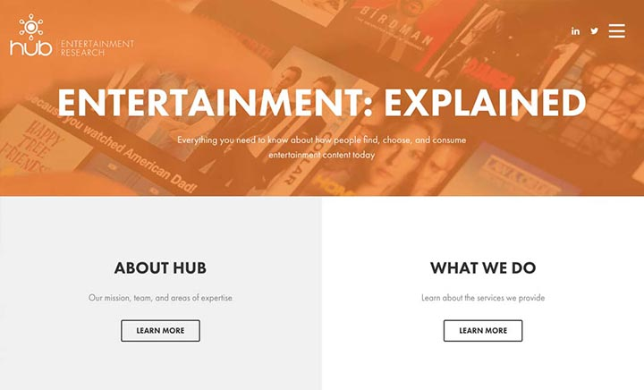 Hub Entertainment Research website