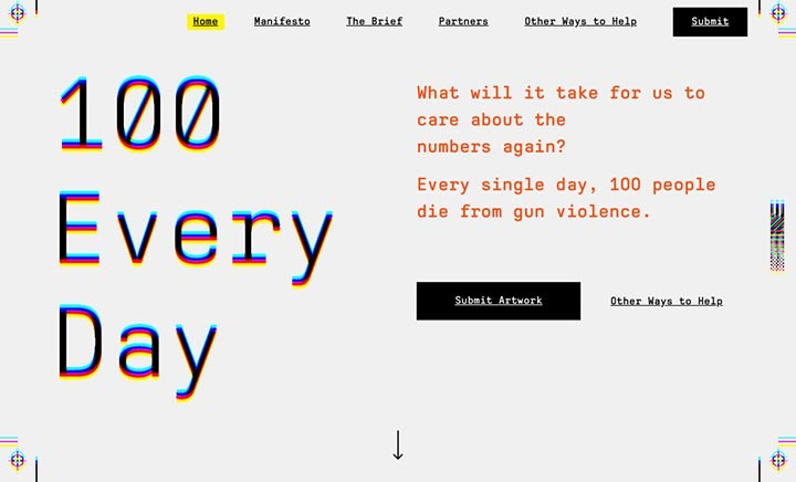 100 Every Day website