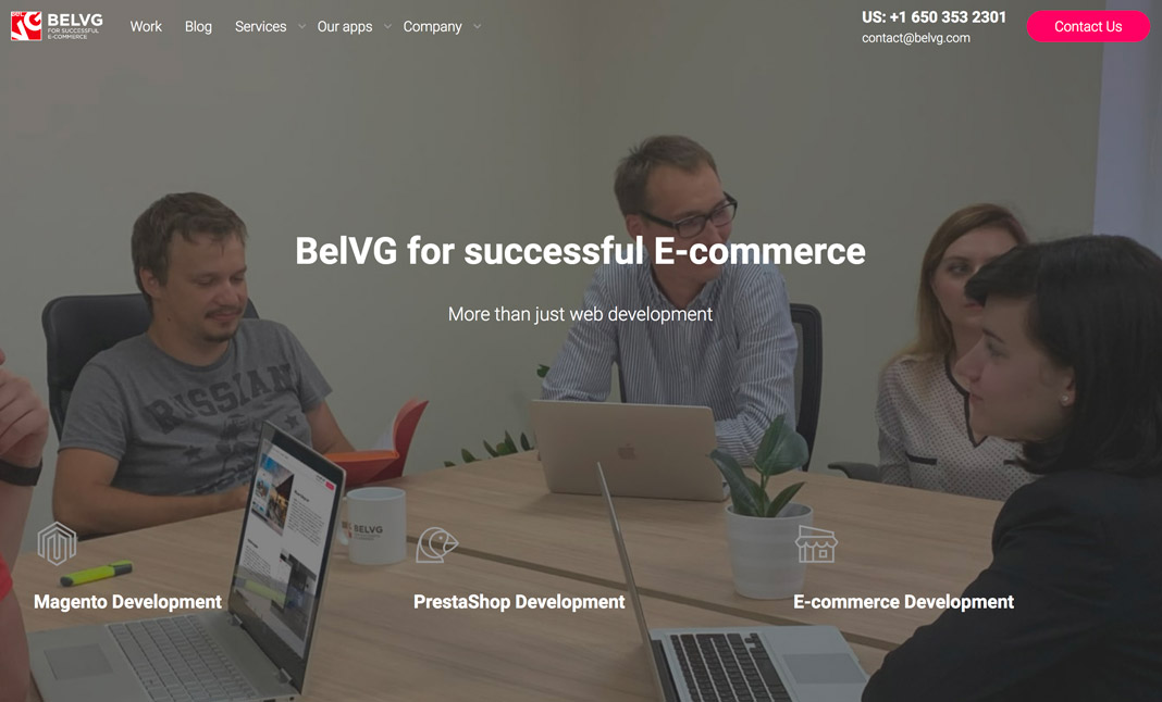 BelVG Ecommerce Development website