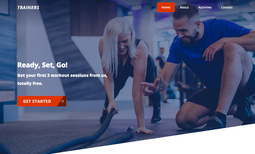 Ultra Personal Trainer Demo website