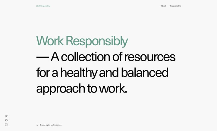 Work Responsibly website