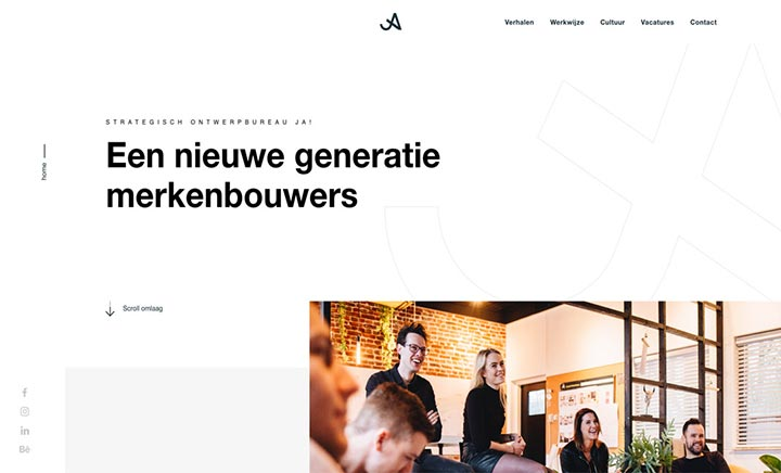 Strategisch ontwerpbureau JA! website