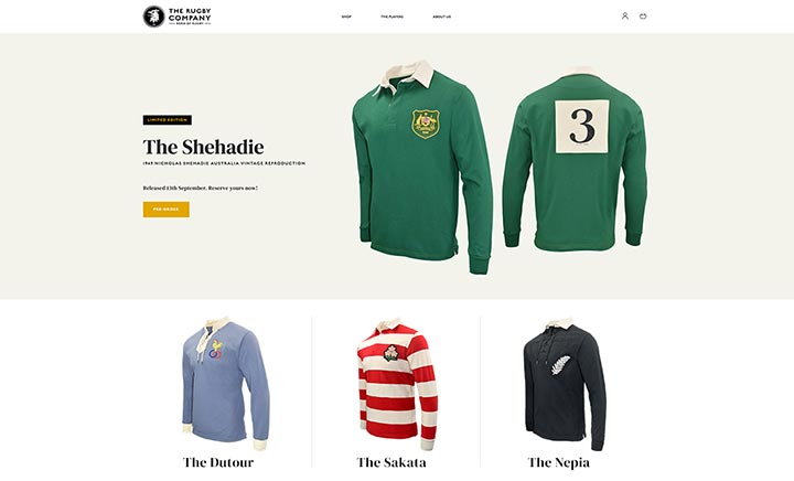 The Rugby Company website