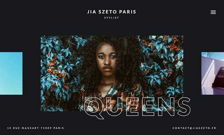 Jia Szeto Paris website
