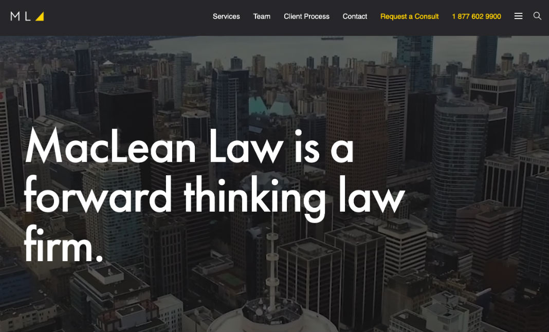 MacLean Family Law website
