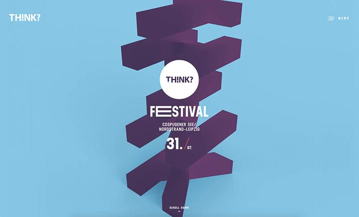 THINK Festival 2016 website