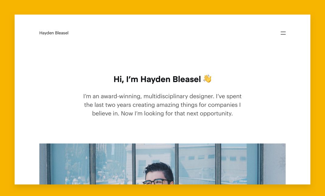 Hayden Bleasel website