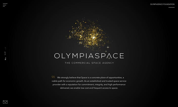 OLYMPIASPACE website