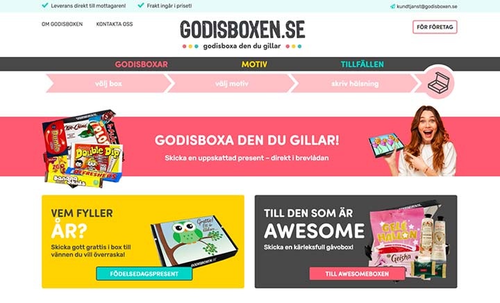 Godisboxen website