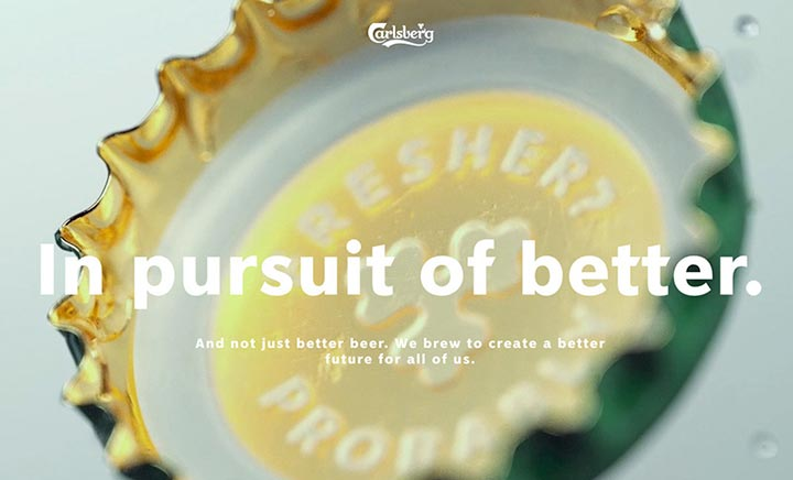 Carlsberg - In Pursuit Of Better website