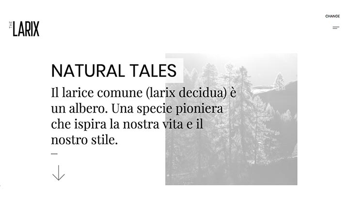 The Larix - Natural Tales website