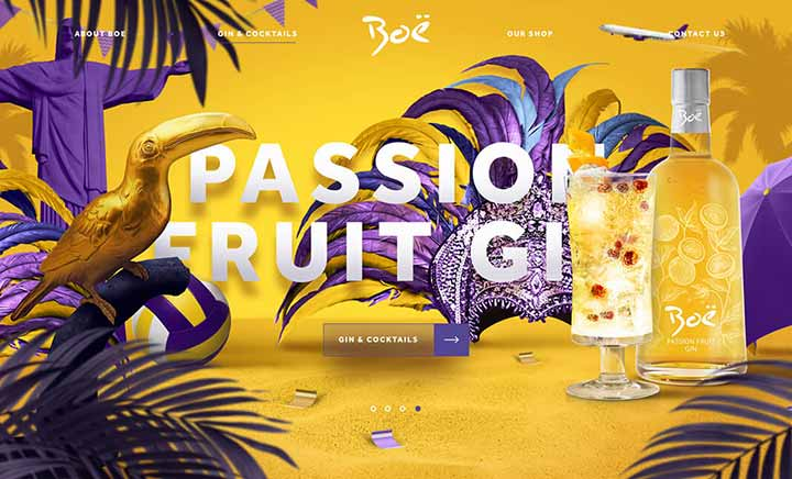 Boë Gin website