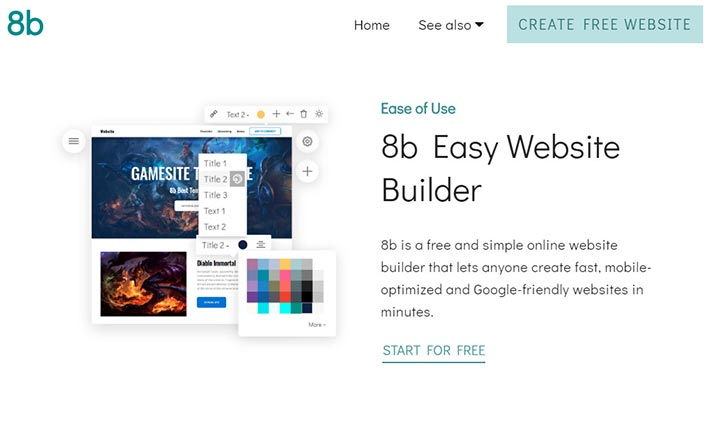 8b Easy Website Builder