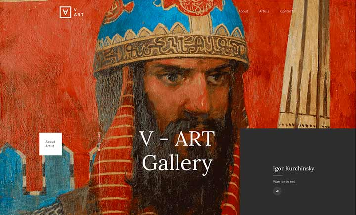 V-Art Gallery website