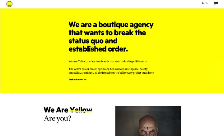 We Are Yellow website