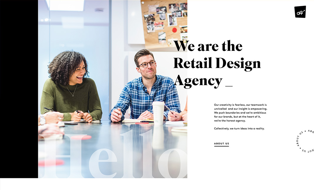 Design4Retail website