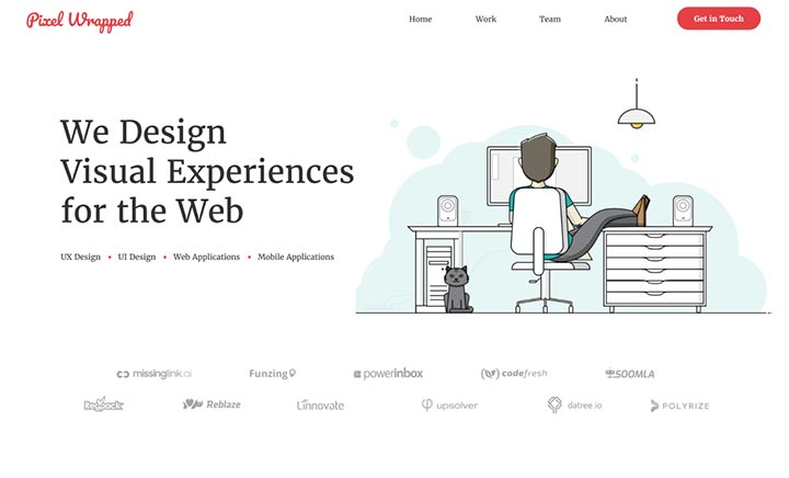 Pixel Wrapped website
