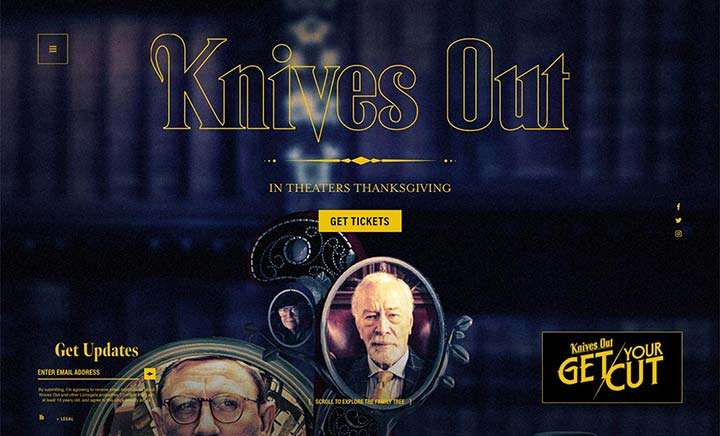 Knives Out Official Movie Site website