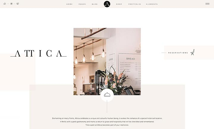 Attika - Elegant Restaurant Theme website