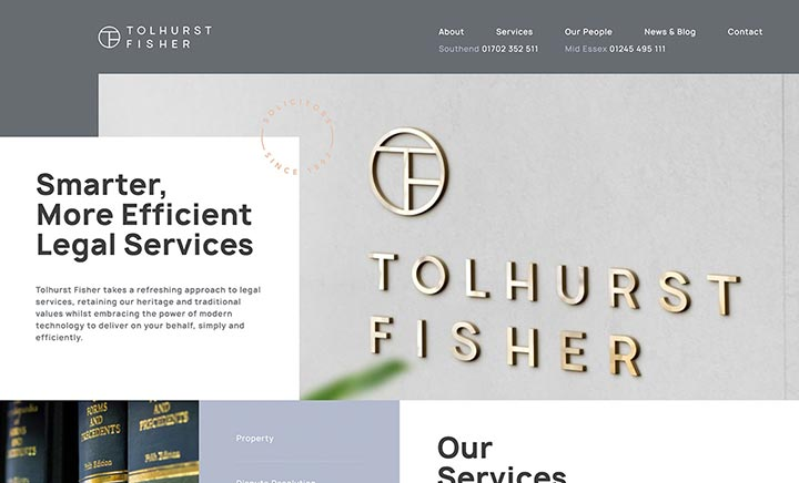 Tolhurst Fisher website
