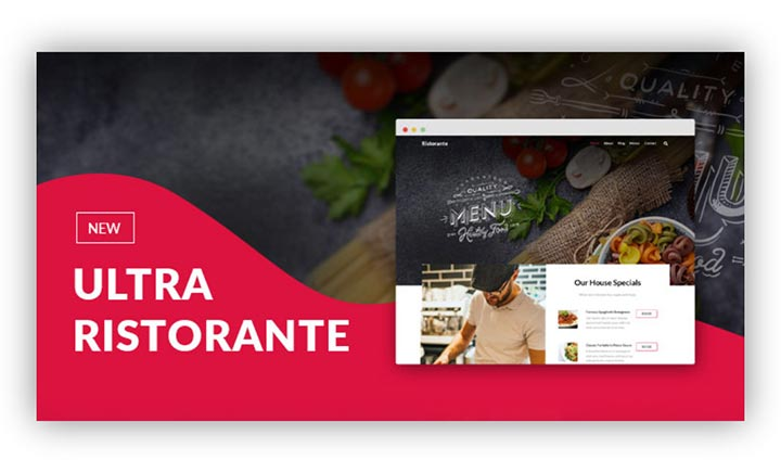 Ultra Ristorante WordPress Theme Skin website