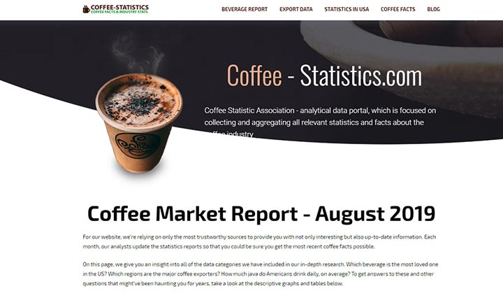 Coffee-Statistics website