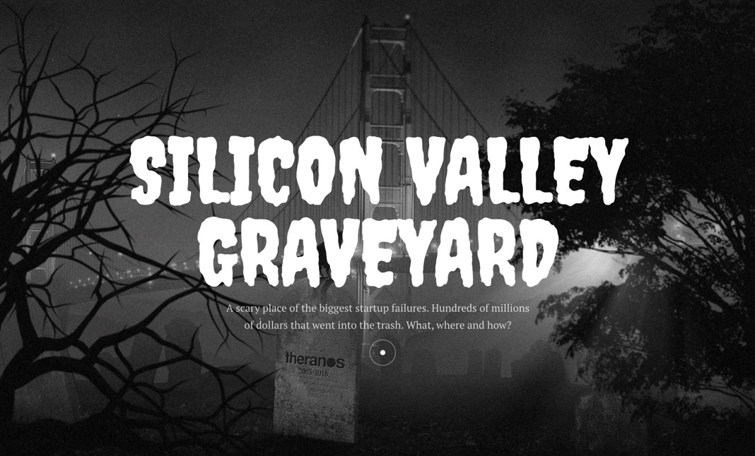 Silicon Valley Graveyard website