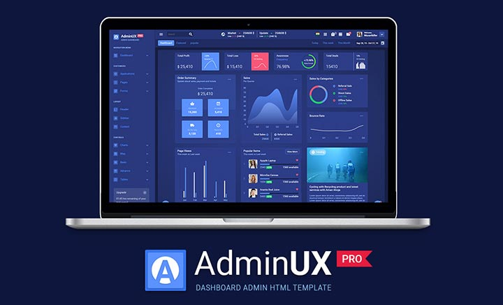 Admin UX PRO HTML Template website