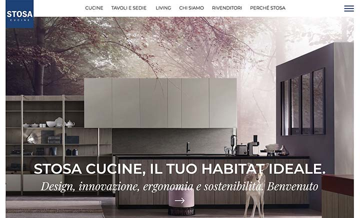 Stosa Cucine website