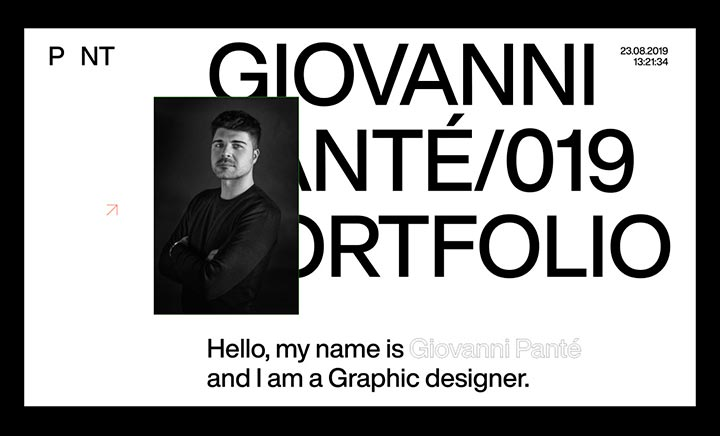 Giovanni Panté / Portfolio website
