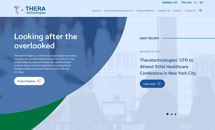 Thera Technologies website