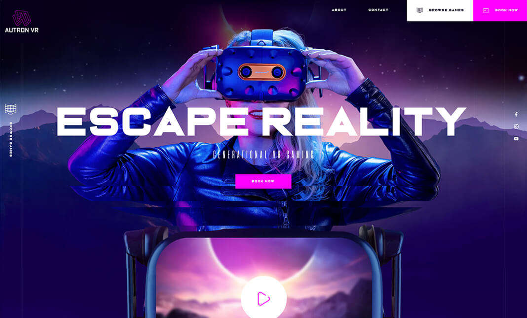 Autron VR website