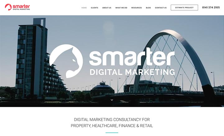 Smarter Digital Marketing website