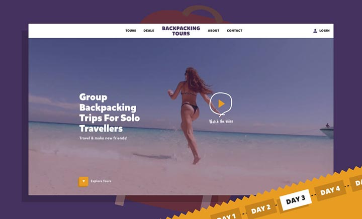 Backpacking Tours website