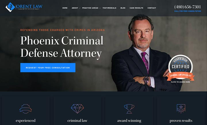 Orent Law Offices, PLC website
