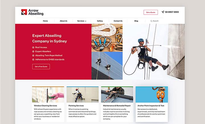 Arrow Abseiling website