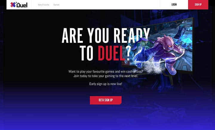 Duel Gaming website