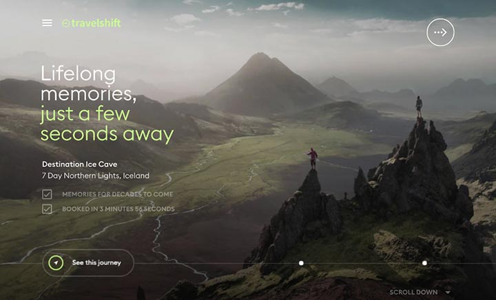 Travelshift website