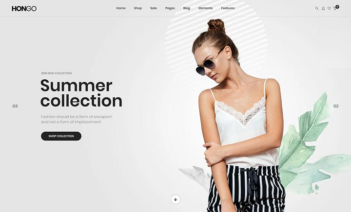 Hongo WooCommerce Theme website