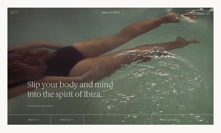 Aguas de Ibiza, Grand Luxe Hotel website