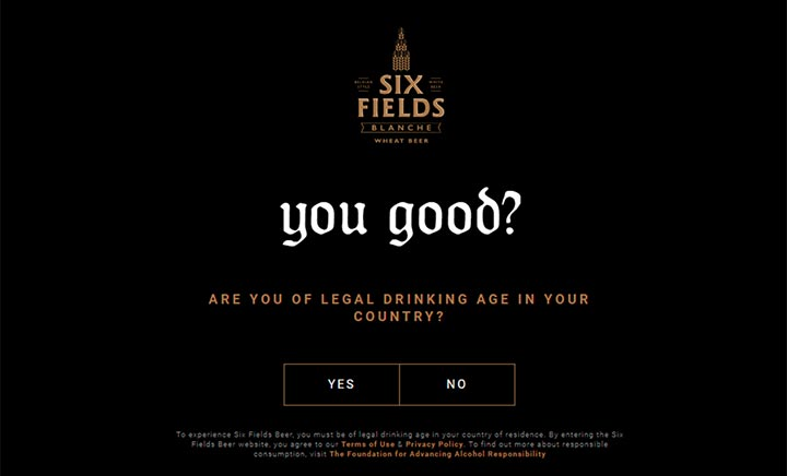 Six Fields Beer website