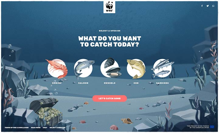 WWF Finprint Game website