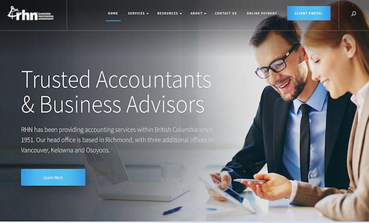 RHN CPA Trusted Accountants website
