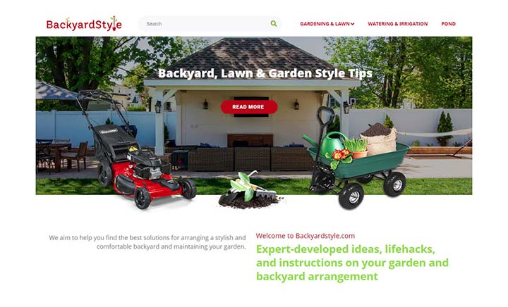 BackYardStyle website