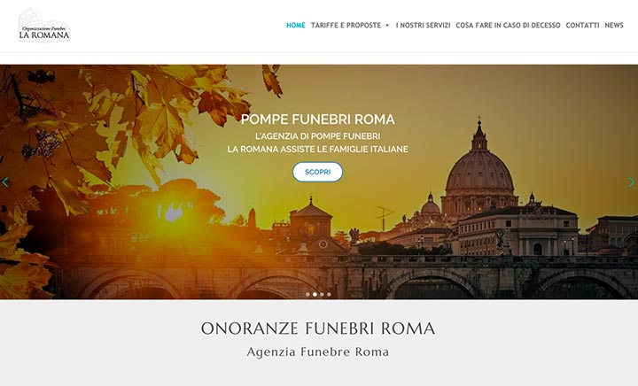 Onoranze Funebri Roma website