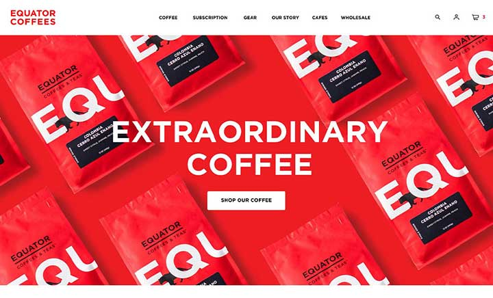 Equator Coffees website
